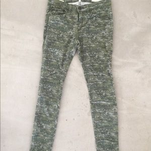 Rag and bone camo green jean